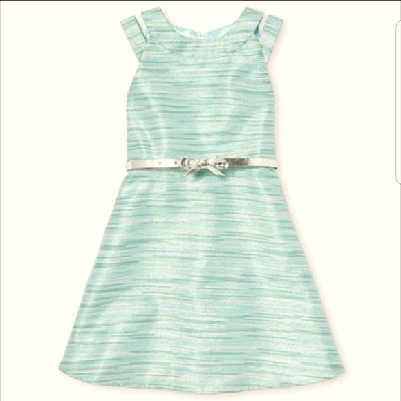 Children' Place Girls Belt Metallic dress, 4T